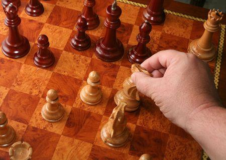 Schachmatt: Eine ziemlich ordentliche Niederlage mit einem Ritter, durch jemand, das die rechte Ma�nahme treffen kann.