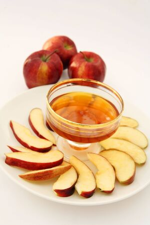 Apples with honey - the combination is traditional for Jewish New Year
