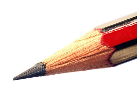 An extreme macro of the point of a pencil. Inspectors: The colour in the point is caused by refraction within the graphite's crystal lattice, it is not digital noise.