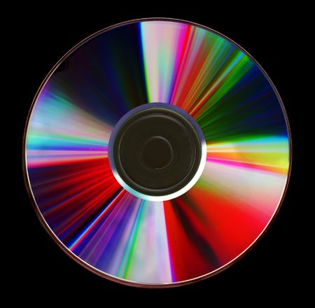 diffraction: Diffraction patterns on the surface of a compact disk. Stock Photo