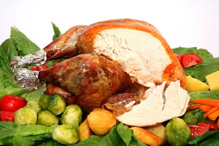 trimmings: Roast turkey with all the trimmings for a great festive meal.