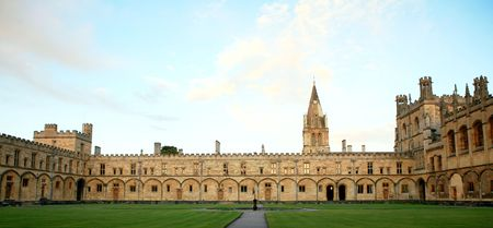 oxford: A view of the quad and buildings of Christ Church  College, Oxford Stock Photo