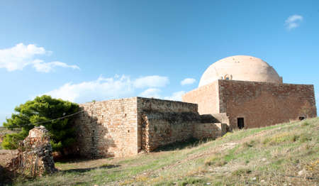 fortezza: A view of the disused Sultan Ibrahim Mosque, inside the Fortezza castle at Rethymnon, Crete.