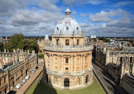 The landmark Radcliffe Camera reading room of the Universitys Bodleian Library in central Oxford, England photo