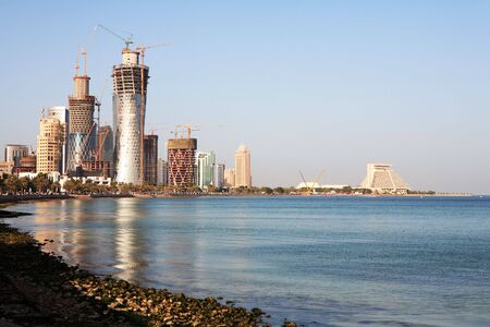 The development of the high-rise area overlooking the Corniche and Doha Bay in Doha, Qatar, February 28, 2008 photo