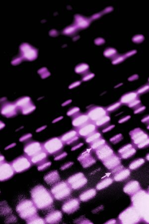 A DNA southern blot chart, comparing samples to show genetic relationships, such as paternity. Stock Photo - 2942432