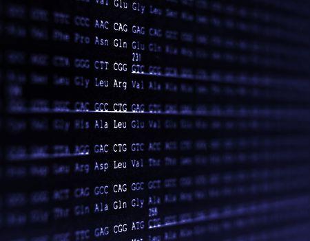 genes: Una secuencia de ADN del genoma humano.  Foto de archivo