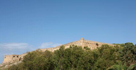 extant: Una vista de la Fortezza castillo en la ciudad de Rethymnon, Creta, uno de los mejores ejemplos existentes de finales de siglo 16 la arquitectura militar.