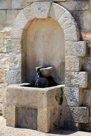 springwater: The village spring in Prines, Rethymnon Praefecture, Crete, Greece