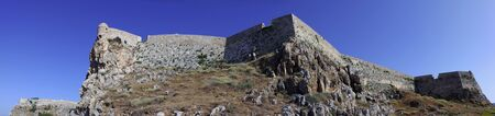 fortezza: A panoramic view of the massive Fortezza castle in Rethymnon, Crete, which is one of the best preserved Venetian castles in Europe and claimed to be the largest ever built by the Serene Republic.,