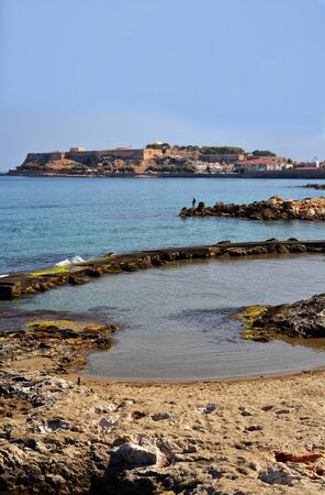 fortezza: Rethymno fortress, Crete, Greece,  seen from the west