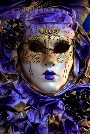 A womans mask for the Venice Carnevale, which is held in the 10 days running up to lent photo