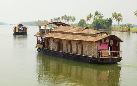 backwaters: Kerala houseboats on the Backwaters