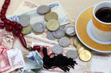 greek coins: A nightmare scenario for Greeks, with the euro being pushed aside to make way for a drachma takeover