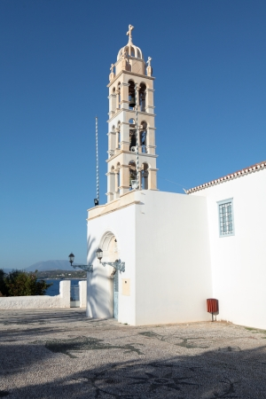 st  nicholas cathedral: The campanile of St Nicholas Cathedral, Spetses, a former monastery and now the island