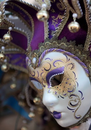 venetian mask: A jester mask in the traditional style of the famous Venice carnevale Stock Photo