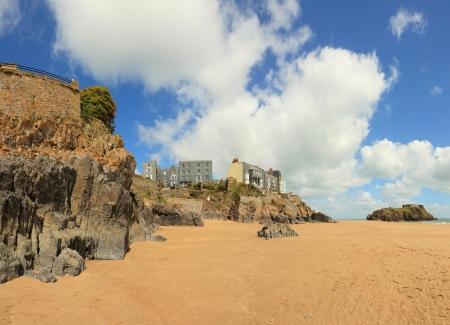 tenby wales: tenby beach in West Wales