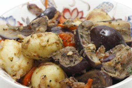 brinjal: Balti style aubergine and potato curry