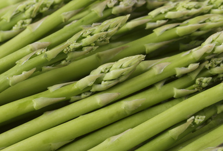 spears: Closeup view of small asparagus spears