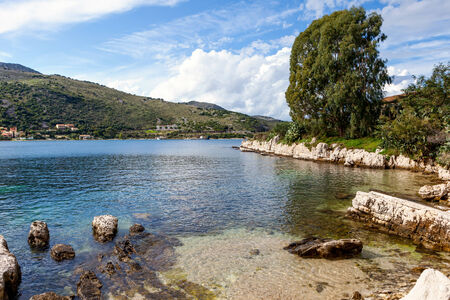 ionian island: Landscape near the ancient village of Kassiopi on the north coast of Corfu, Crete, Greece