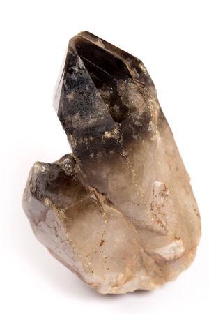 gemology: cairngorm or smoky quartz Stock Photo
