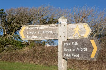 southgate: Wales Coast Path sign