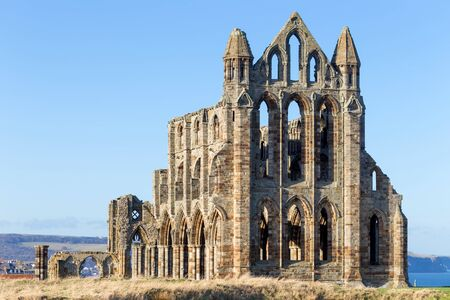 The ruins of Whitby Abbey in Yorkshire, UK, which provided inspiration for Bram Stokers Dracula.
