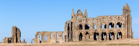 whitby: The ruins of Whitby Abbey in Yorkshire, UK, which provided inspiration for Bram Stokers Dracula.