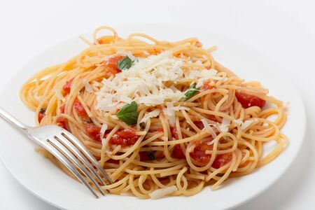 simplest: Spaghetti al pomodoro, one of the simplest Italian rustic dishes with the pasta tossed in a sauce of tomato, basil, garlic and a little sugar and oil.