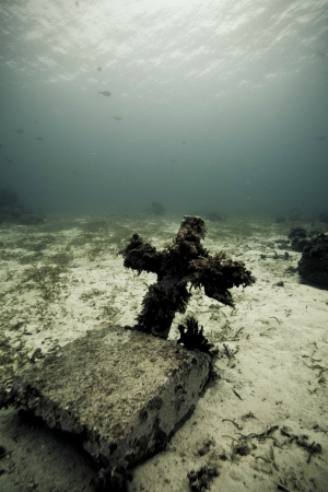 underwater grave stone Stock Photo - 15803189