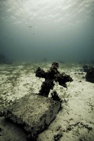 underwater grave stone Stock Photo - 15803189