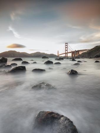 Golden gate bridge seascape Stock fotó