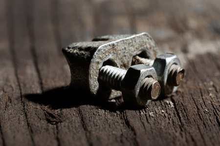 clamp: metal clamp Stock Photo