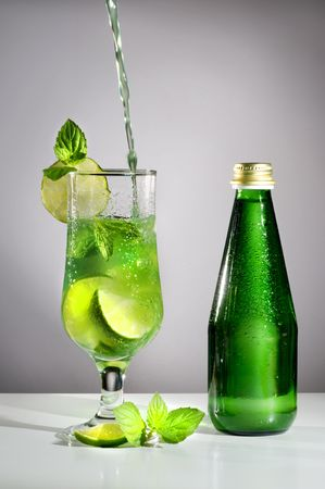 Lime drink with mint