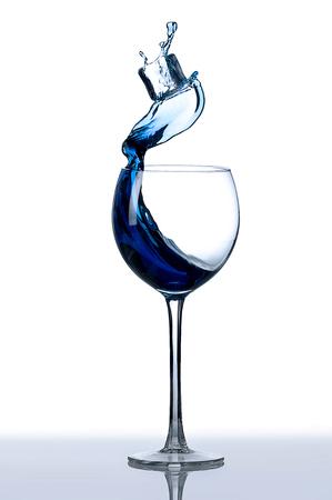 glass blue splash