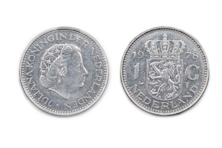 juliana: A Netherlands one Guilder coin minted 1978 and featuring Queen Juliana of the Netherlands. The Guilder ceased to be legal Tender in Holland with the advent of the Euro currency.