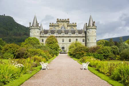 argyle: Inveraray Castle 28th August 2015. Inveraray, Argyle, Scotland. Home of the Duke and Duchess of Argyle.