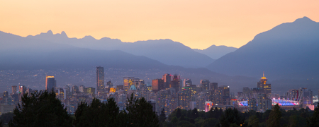 vancouver: Vancouver Sunset Stock Photo