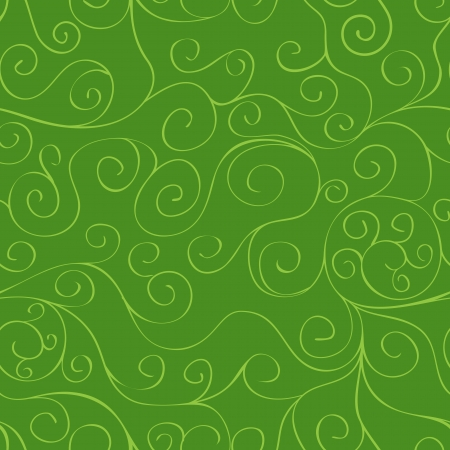 Green seamless pattern background with floral ornament