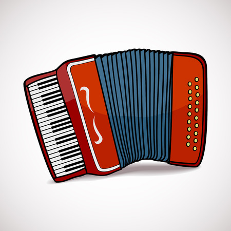 Accordion vector illustration isolated on white background Vector