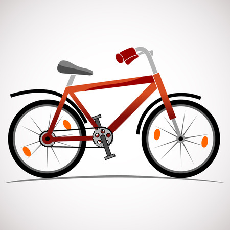 Mountain bike icon isolated on white Illustration