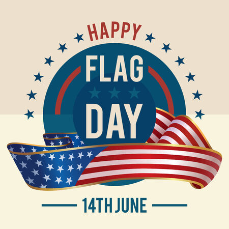 14th of June - American Flag Day greeting card