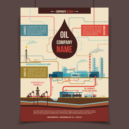 playbill: Oil company corporate template poster