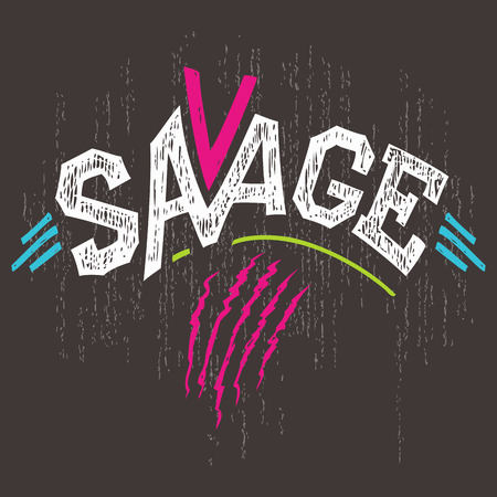 savage: Savage hand-lettered typography t-shirt graphics