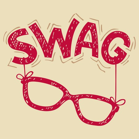 Swag glasses hand-lettering typography for t-shirt