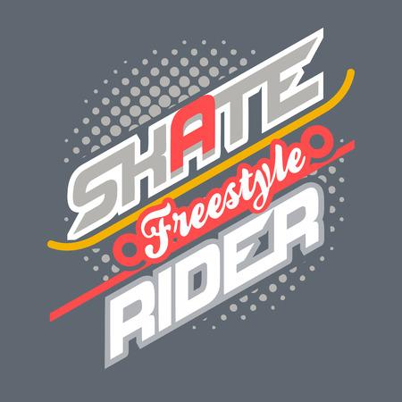 freestyle: Freestyle skate rider t-shirt typographic design