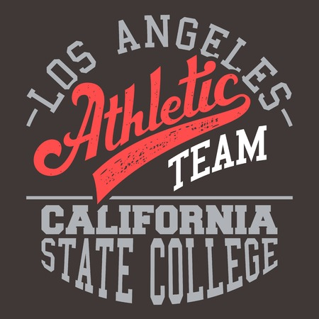 Los Angeles athletic team t-shirt typographic design