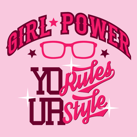tee shirt: Girl Power swag style t-shirt typographic design