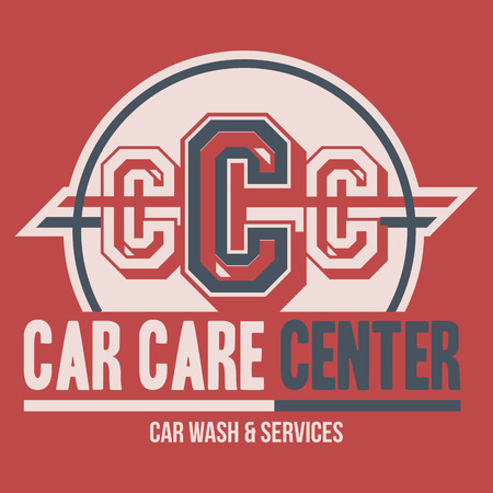 car care center: Car Care Center typographic label and t-shirt design Illustration