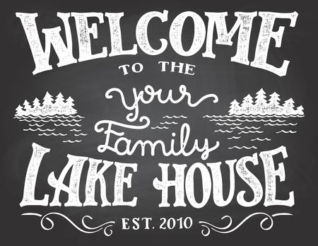Welkom bij het schoolbordbord van je familieplas. Vervang UW door de achternaam die u nodig heeft.
